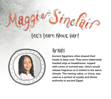 Maggie Sinclair Will You Please Fix Your Hair, braids, natural hair, children's book, braided, braiding